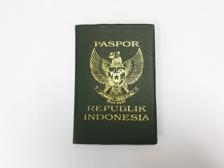 Passport Republic Indonesia on white background