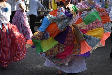 Fotorolgordijn Zuid-Amerika land Colon national dress congo