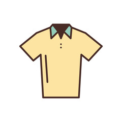 uniform shirt for golf isolated icon