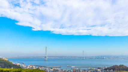 明石海峡大橋の風景