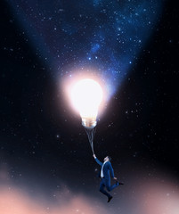 Flying with the lightbulb