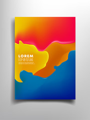 full color abstract background with copy space
