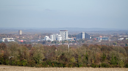 Basingstoke, Hampshire on a clear Winter day