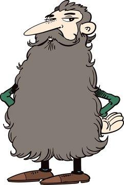 Man with a big beard
