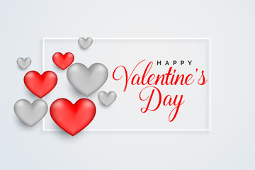 happy valentines day celebration greeting card design