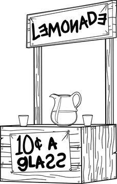 Lemonade Stand Vector Illustration