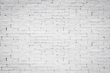 Brick wall pattern texture background painted in light white