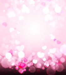 Soft Pink Romance Background For Greeting Card Valentine Day