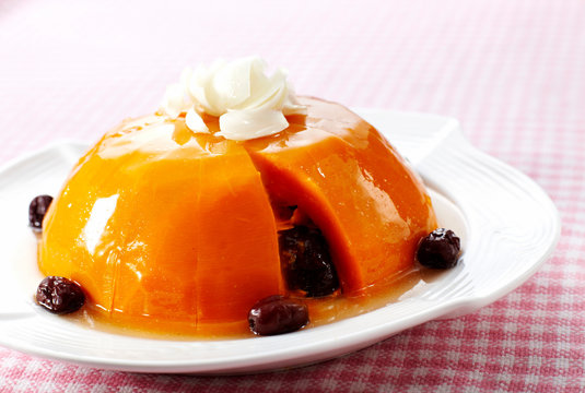 Delicious Chinese cuisine, steamed pumpkin