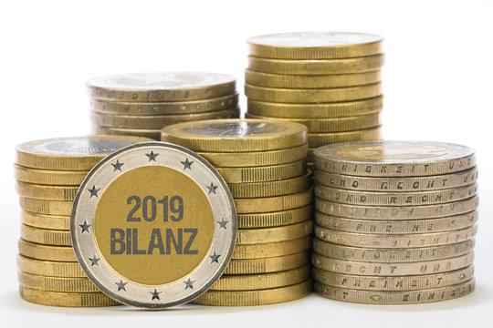 2019 Bilanz auf Münze