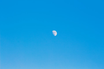 Moon on the blue sky. Background, workpiece for design_
