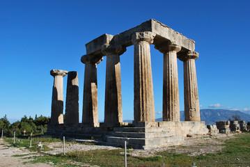 The Apollo Temple in Corinth, Greece