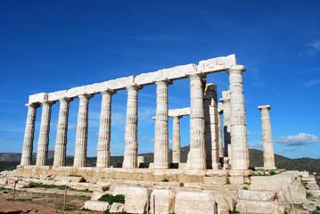 The Temple of Poseidon at Cape Sounion, Greece