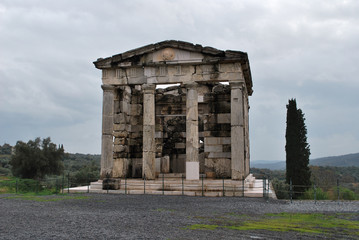 The ancient temple in the Ancient Messene, Greece