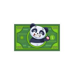 panda sticker emoticon money profit dollar