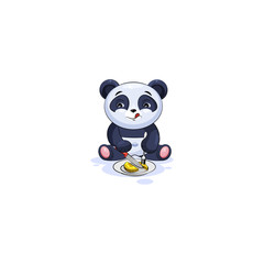 panda sticker emoticon business shares coin