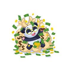 panda sticker emoticon lies and celebrates