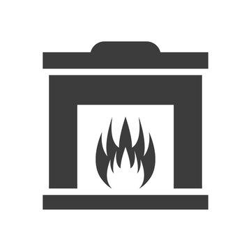 Fireplace icon on white background.