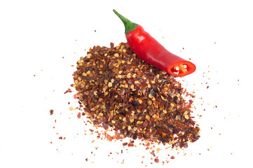 Red Chili Fruit And Chili Flakes