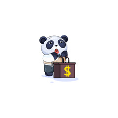 panda in business suit orator speaker