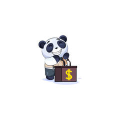 panda in business suit training presentation