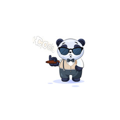 panda in business suit sunglasses smoking cigar
