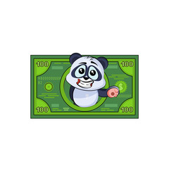 panda bear sticker emoticon money profit dollar