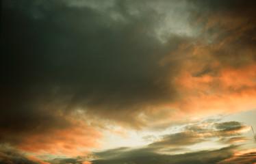 Wall Mural - sunset sunrise cloudy sky like mystic magic and poetic bacground