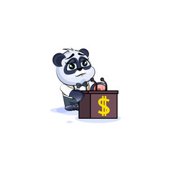 panda bear in business suit training presentation