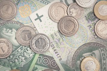 Polish currency, polish banknotes and coins