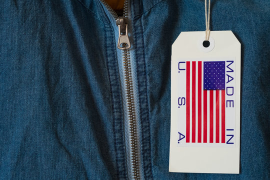 Made in USA paper label