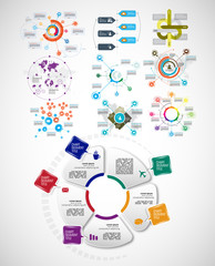 Business infographic elements data visualization vector design