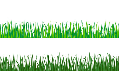 Green grass  vector pattern.