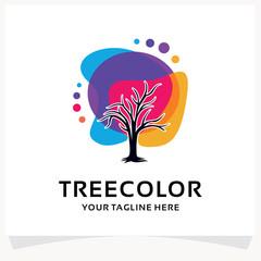 Tree Color Logo Design Template Inspiration