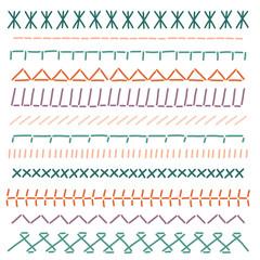 Stitch borders. Color sewing seams