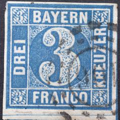 German Stamp from Bavarian