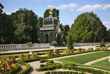 Park of Branicki in Bialystok. Poland