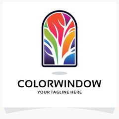 Color Window Logo Design Template Inspiration