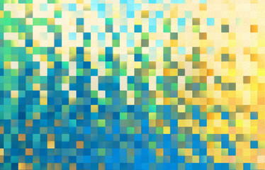 Abstract square blocks shapes gradient pattern background