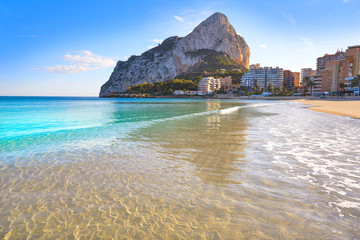 Wall Mural - Playa de Fossa beach in Calpe and Ifach