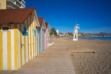 Wall Mural - Campello of Alicante Carrer la Mar beach