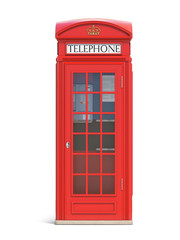 Red phone booth. London, british and english symbol.