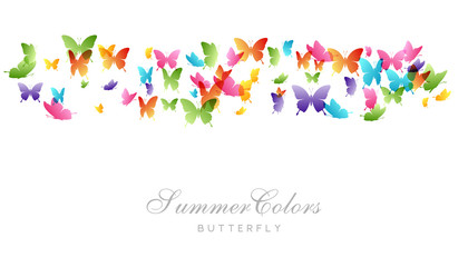 Flying butterflies. Vector decoration element.