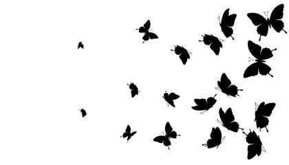 Flying butterflies. Vector decoration element.