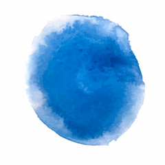 Blue Watercolor paint stain backgrounds. Vector Illustration