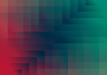Abstract Geometric Background. Vector Colorful Red and Green Texture