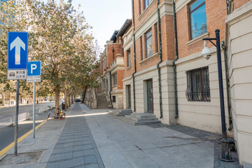 BEIJING, CHINA - DECEMBER 25, 2018: Italian style town in Tianjin , China