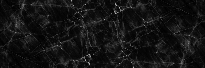Wall Mural - horizontal elegant black natural marble for pattern and background