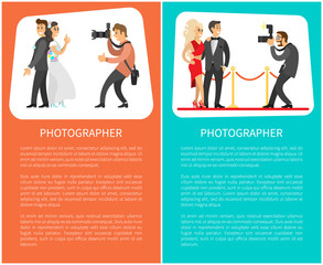 Wedding Photographer, Paparazzi Posters with Text