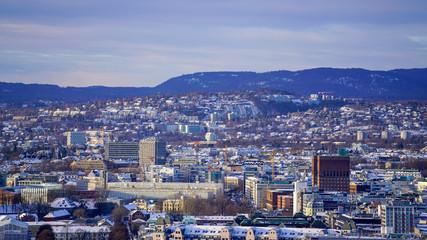 Oslo widok z Ekeberg landscape krajobraz Norwegia Norge Norway